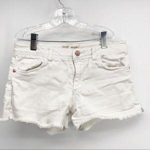 NWOT Zara Girls Denim Shorts Raw Hem Sz 11/12